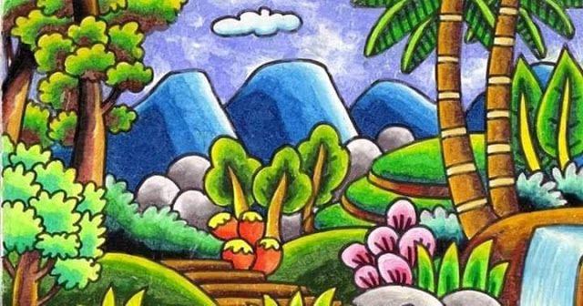 7 Gambar Pemandangan Alam Yang Layak Dijadikan Contoh Dalam Menggambar Di Kelas Lukisan Bunga Matahari Gambar Pelajaran Seni