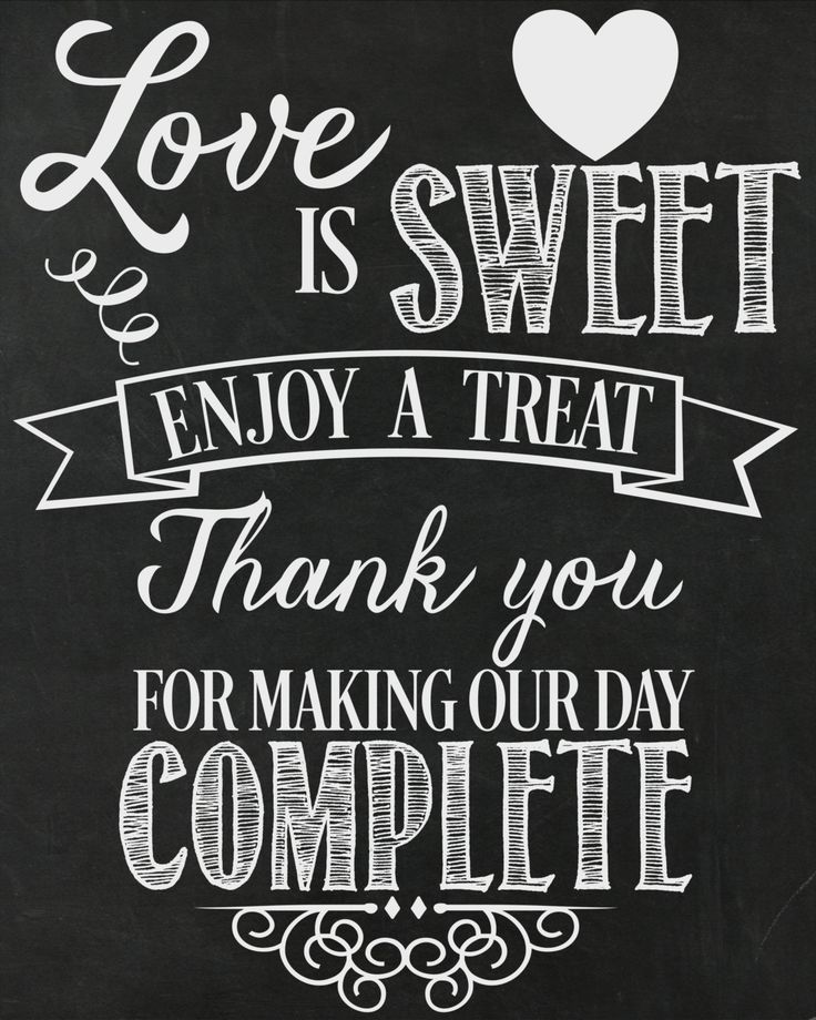 Love Is Sweet...Enjoy A Treat Wedding Printable / by AllSeamsSilly