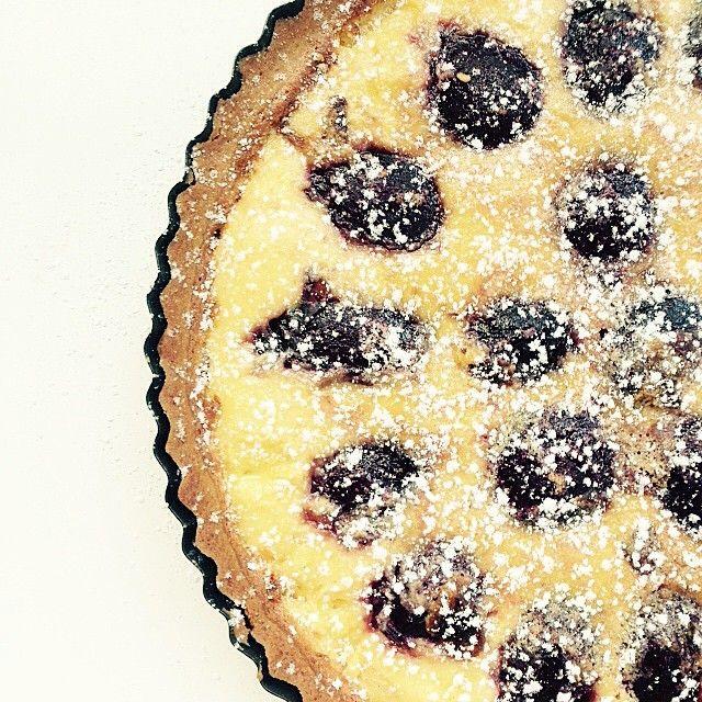 """Sour cream and black doris plum tart. Photo taken by @danandchristie on Instagram, pinned via the InstaPin iOS App! http://www.instapinapp.com (03/28/2015)"