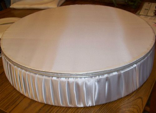 Diy Cake Stand Satin Covered Do This But Square 2x4
