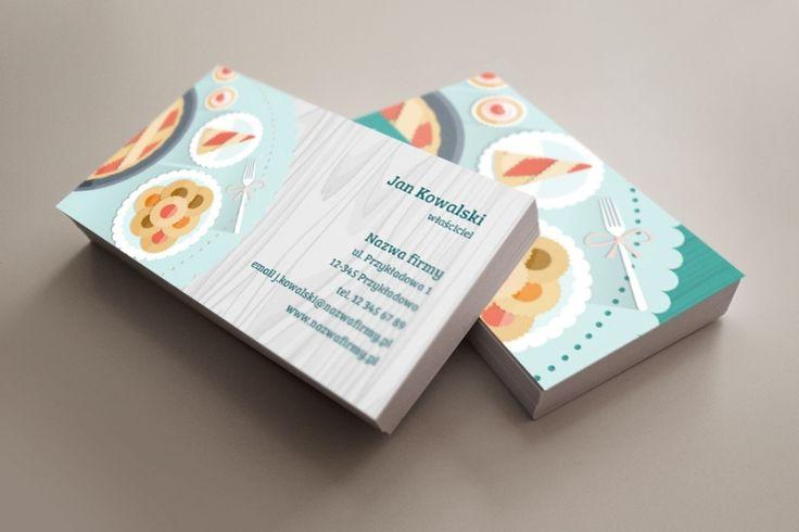 szablon wizytówki Słodki stół