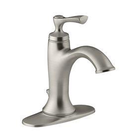 Kohler Elliston Sink : KOHLER Elliston Brushed Nickel 1-Handle Single Hole/4-in Centerset ...