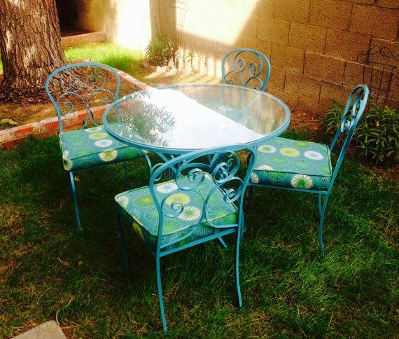 Vintage Wrought Iron Patio Set By Goodwillhunting1 On Etsy, $325.00