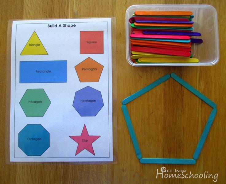 Build A Shape With Paddle Pop Sticks