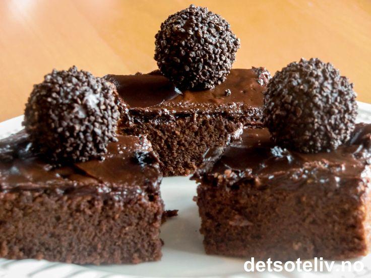 Fransk sjokoladekake i langpanne