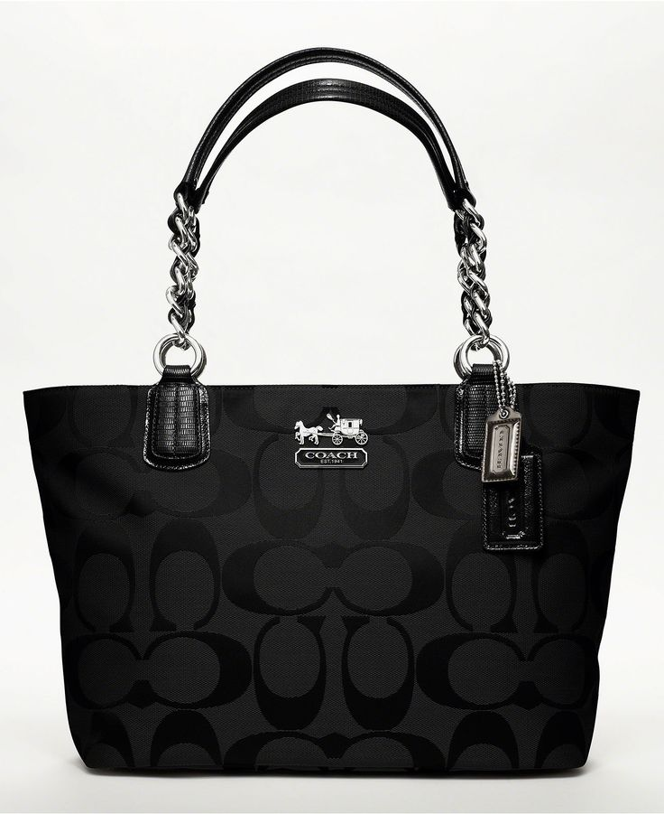 Black COACH Tote.. I love black coaches