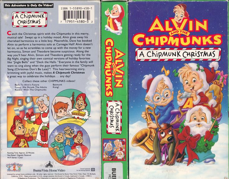 ALVIN AND THE CHIPMUNKS : A CHIPMUNK CHRISTMAS (APRIL 27 2011 VHS COVER SCAN)