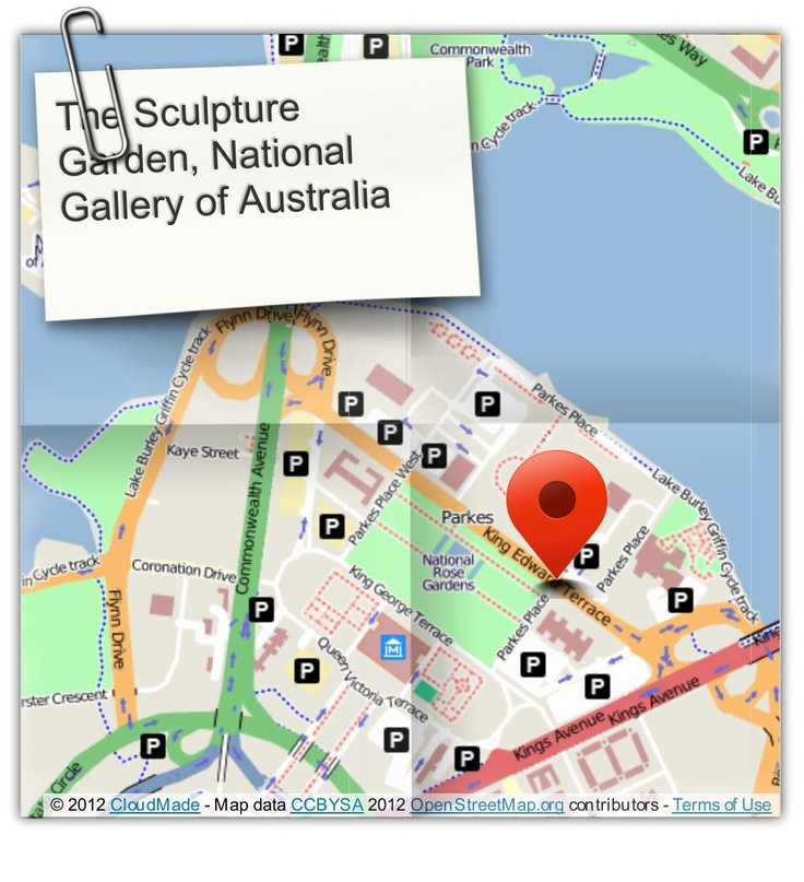 Where the ceremony will take place: The Sculpture Garden, National Gallery of Australia