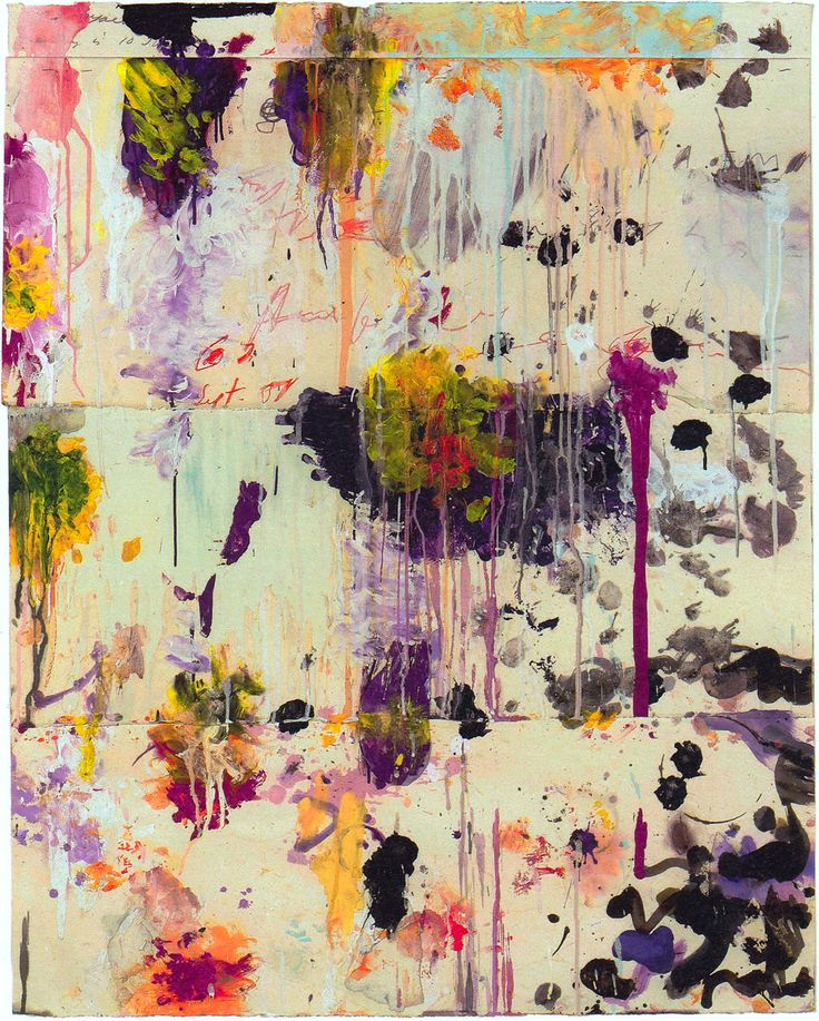 Cy Twombly   Untitled  2001   Acrylic, wax crayon, pencil, and collage  48.75 x 39 in   Collection of the artist