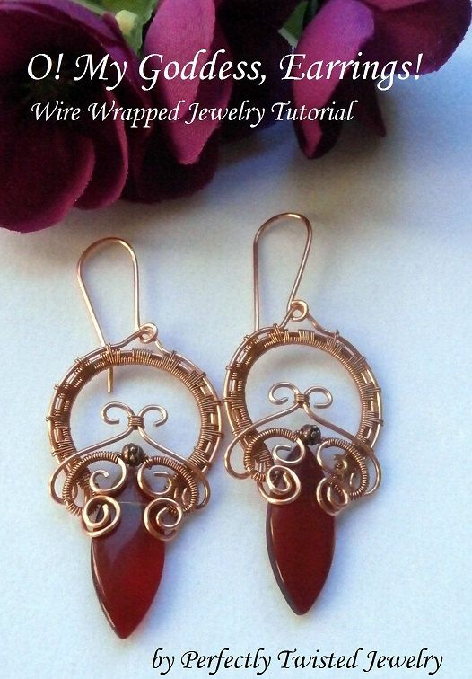 DIY TUTORIAL, Wire Wrapped Earrings, O! My Goddess ...