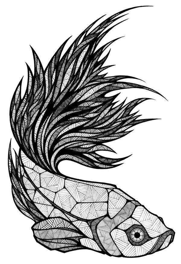 Andreas Preis, designer e artista espanhol, fez esse peixe geométrico. Vai ficar pra me inspirar.