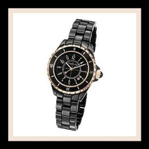 Stuhrling Original Ceramic Watch For Woman Glamor Black Bracelet Watch Keep time stylishly with this perfect addition to the Stuhrling range. The black dial features rose tone Arabic numerals an can be worn to both casual and formal events. http://theceramicchefknives.com/ceramic-watches-women/