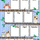 "This 11"" x 17"" owl birthday chart will look super cute hanging on your classroom wall, bulletin board or posted in your calendar area. $1.50"