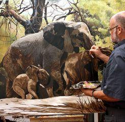 Elefanten am malen 1.jpg Pintura Pinterest