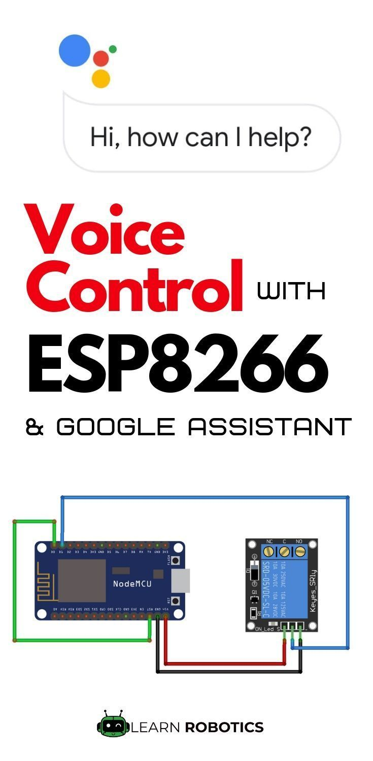 Home Automation using Google Assistant & ESP8266   Raspberry