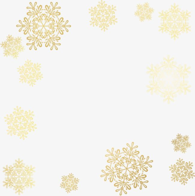 Vector Painted Golden Snowflakes Vector Hand Painted Golden Snowflakes Png Transparent Clipart Image And Psd File For Free Download Snowflake Wallpaper Painting Patterns Pattern Wallpaper