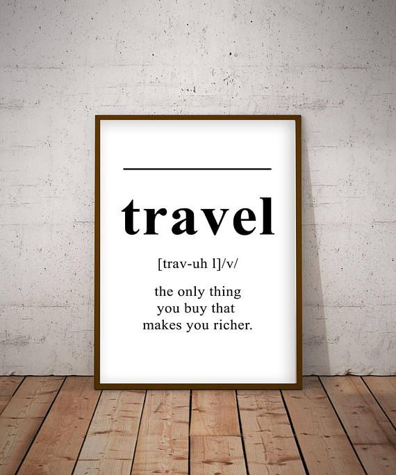 Travel definition, English dictionary, gift for those who
