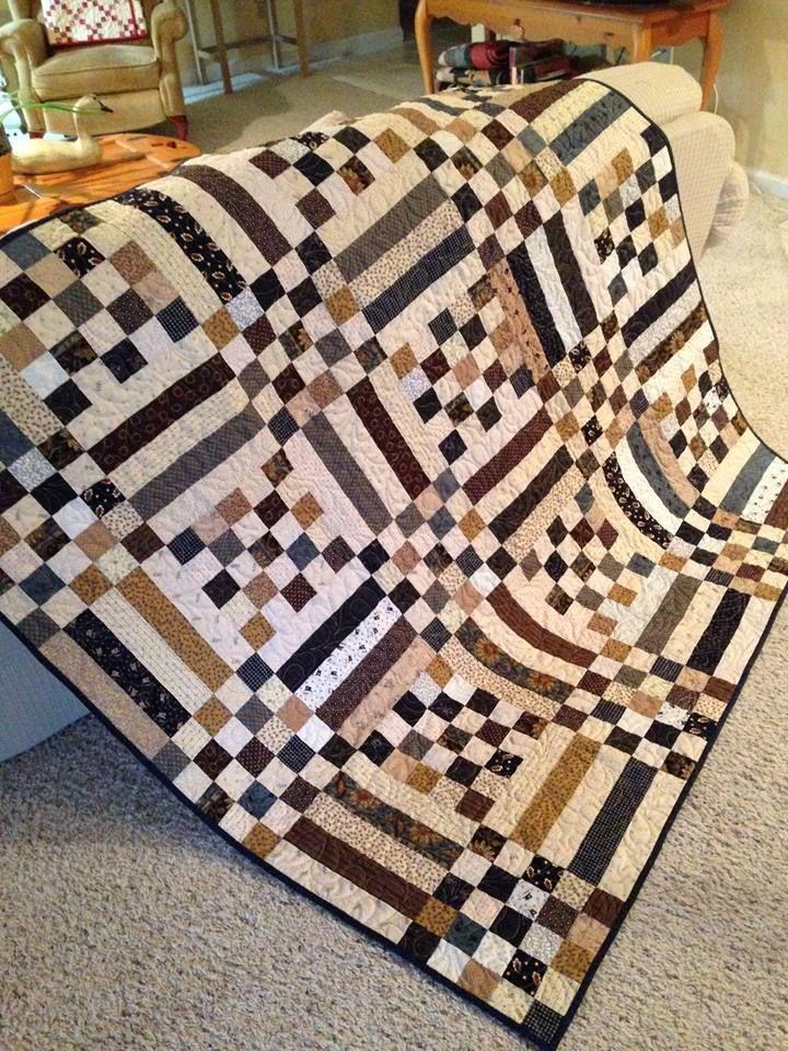 Scraps quilt by Berta Fernandez Yero ... LOVE, LOVE, LOVE this quilt ! Imagine the color combinations ....