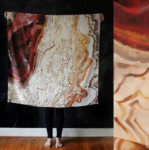 Cisthene gem scarves: Beautiful Scarf, Agate Print, Agates, Altman Agate Scarf, Scarfs, Silk Scarf, Agate Silk, Silk Scarves, Textile