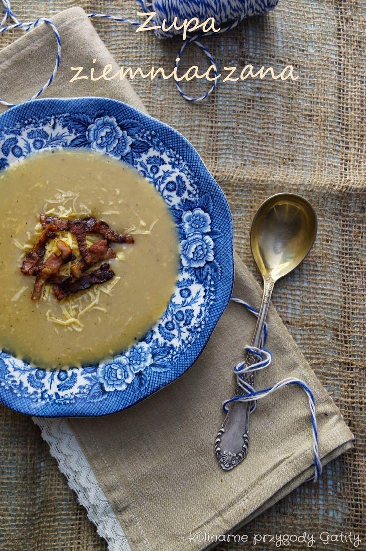 Kulinarne przygody Gatity: Zupa krem z  ziemniaków