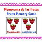 Memorama de las frutas - Este es un memorama sencillo de las frutas con su nombre en español y en inglés. Imprimir las hojas en cartulina y enmicar...