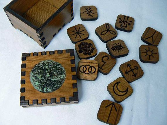 Green Tree Woman  13 Witches Runes by AlaskaLaserMaid on Etsy, $25.00