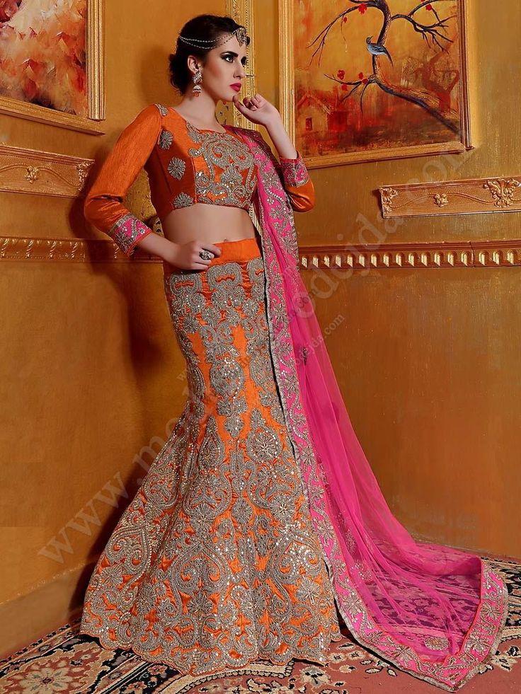 Оранжевая длинная юбка в пол   короткая блузка   накидка