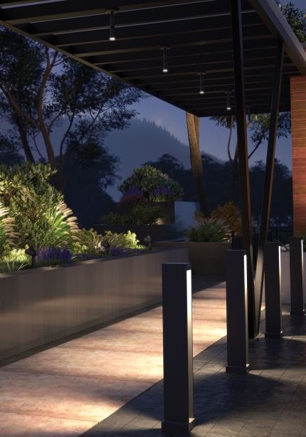 Mode Single Outdoor Wall Or Ceiling Mounted Led Flood Accent Light Features