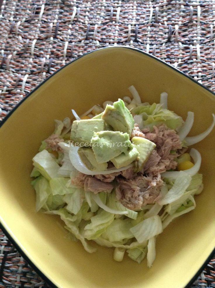 Receta de Ensalada de atún fresca baja en calorias