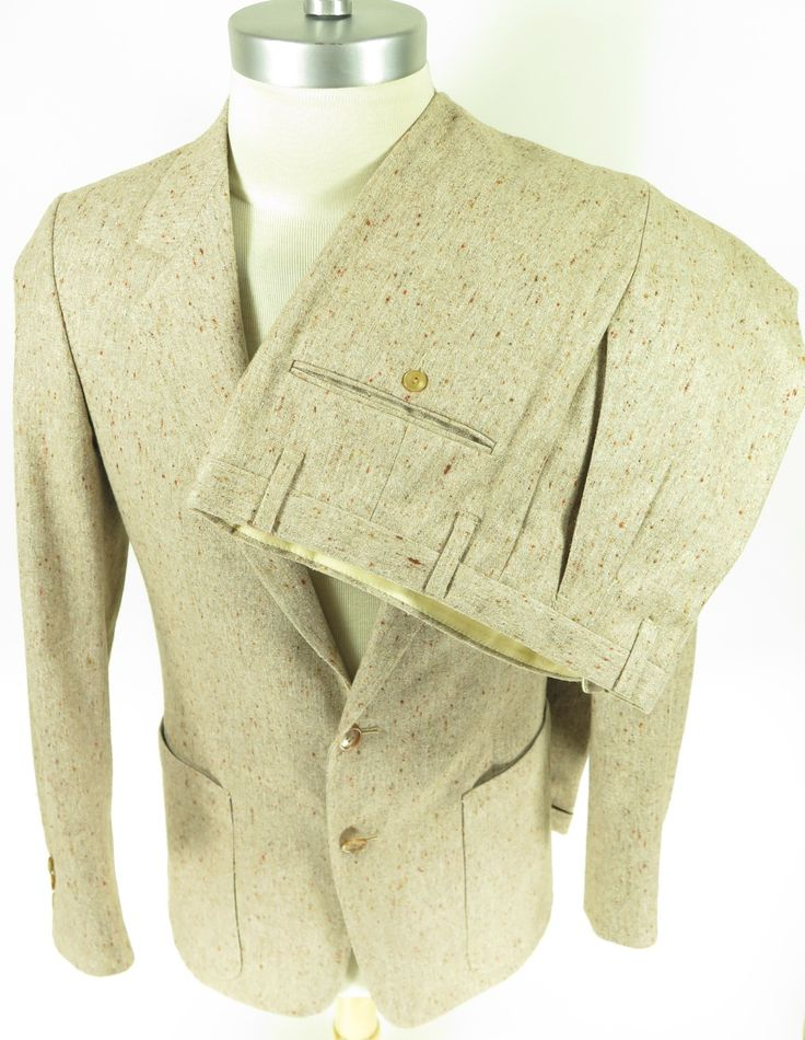 vintage 60s nubby fleck wool suit union made by right