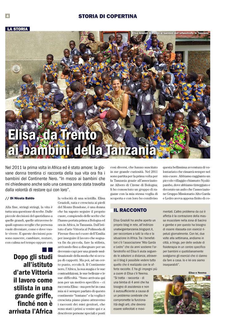 """Una Twiga in Tanzania: Oggi è uscito un articolo su di me sul giornale. """"..."""