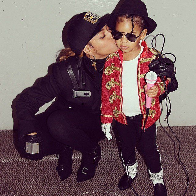 Pin for Later: The 36 Best Celebrity Halloween Costumes, Ever Beyoncé and Blue Ivy Carter as Janet and Michael Jackson