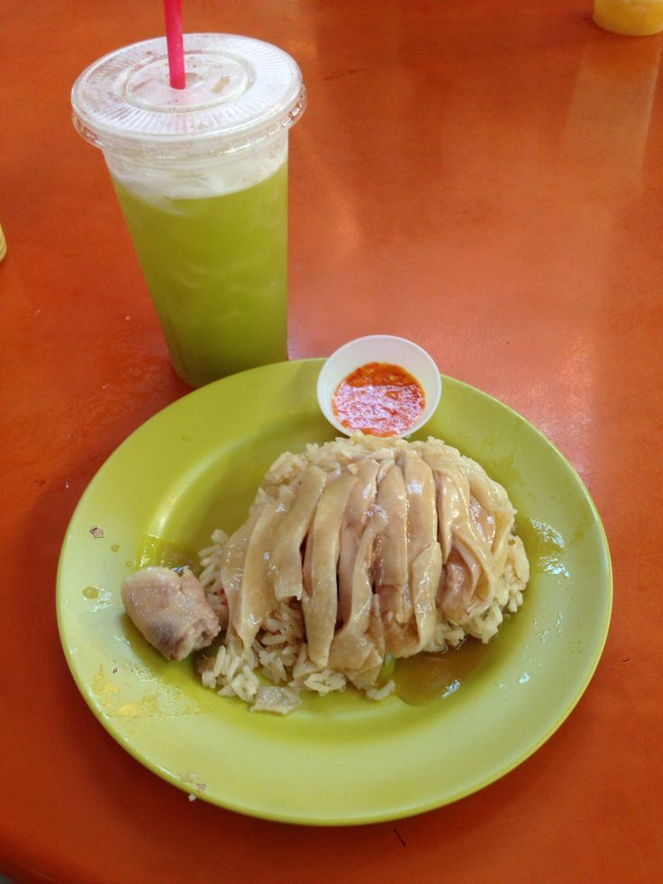 Hainanese Chicken with fragrant rice & Sugar Cane juice