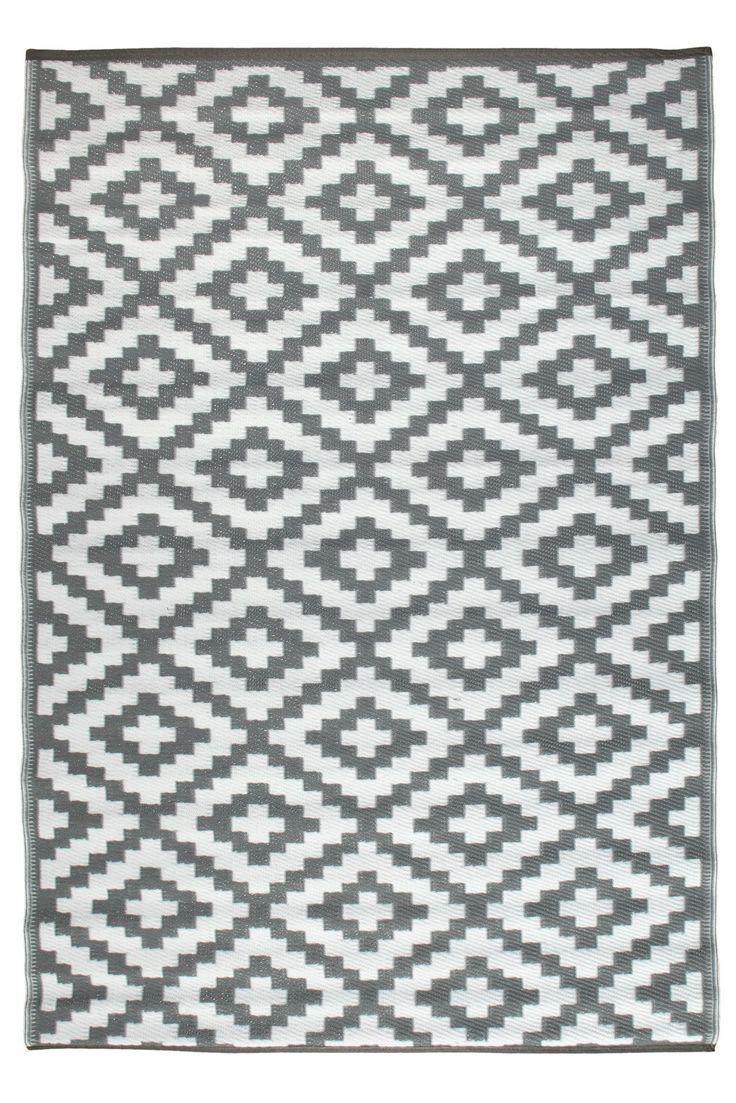 Nirvana Grey And White Rug