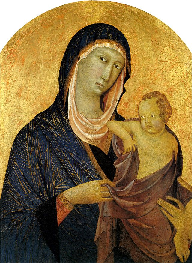 Сенья ди Бонавентура. Мадонна с млад. 1319г Сиена, санта Мария деи Серви - Сенья ди Бонавентура — Википедия