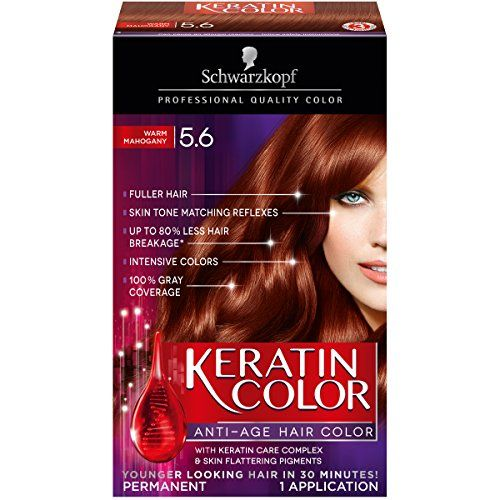 Introducing Schwarzkopf Keratin Color AntiAge Hair Color Kit 56 Warm Mahogany Pack of 2. Great Product and follow us to get more updates!