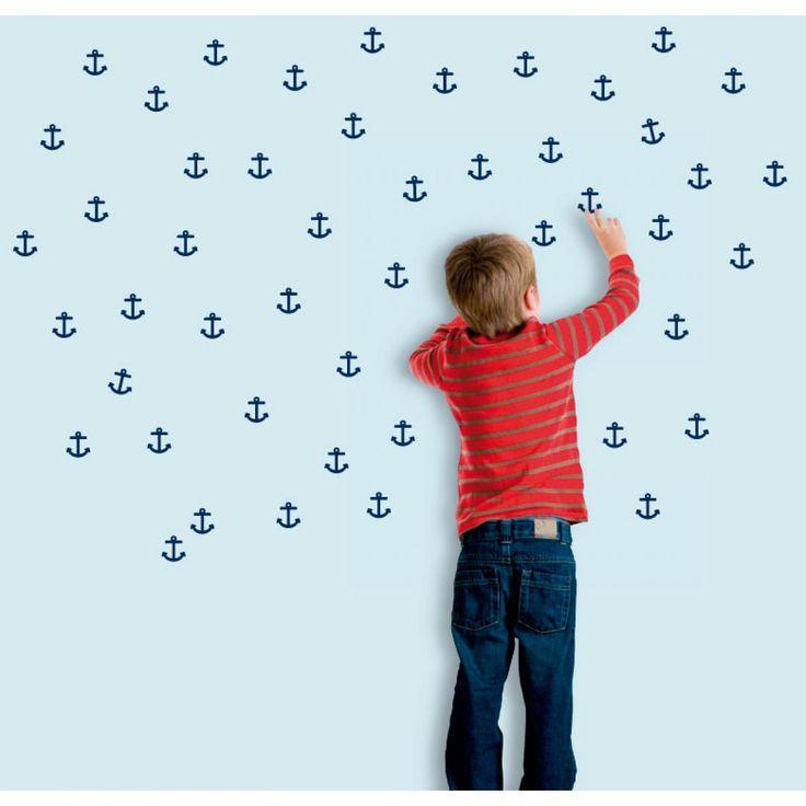 Wall decals - TheWonderwalls® | Decorative vinyl wall decal anchors sea boy