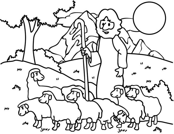 The Good Shepherd Lost Sheep Coloring Pages For Kids Printable