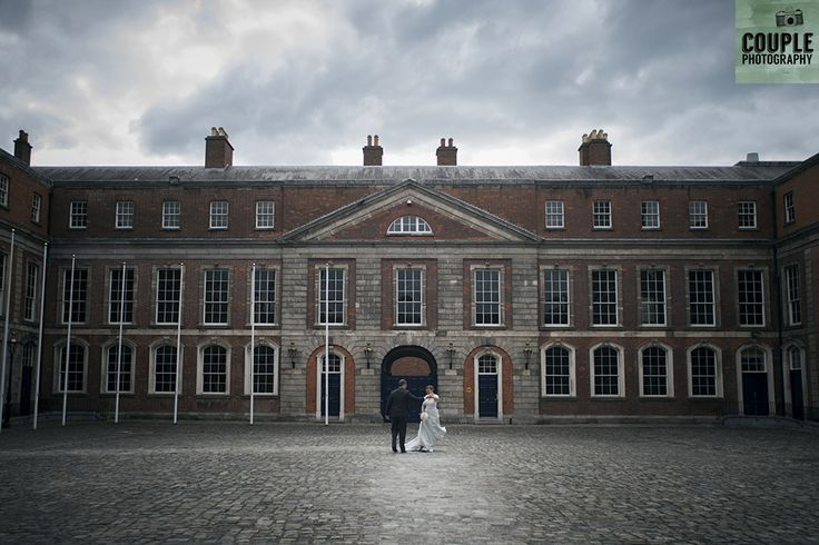 enjoying a walk in Dublin Castle. Real Wedding by Couple Photography