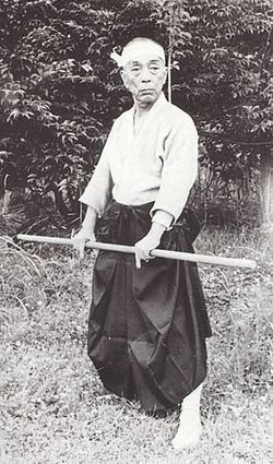 """Toshitsugu Takamatsu (高松 寿嗣 Takamatsu Toshitsugu?) was born on 10 March 1889 (the 23rd year of Meiji) in Akashi, Hyōgo Prefecture, Japan and died on 2 April 1972. He was a martial artist who taught and formed many following Grandmasters of martial art. He has been called """"The Last Shinobi""""."""