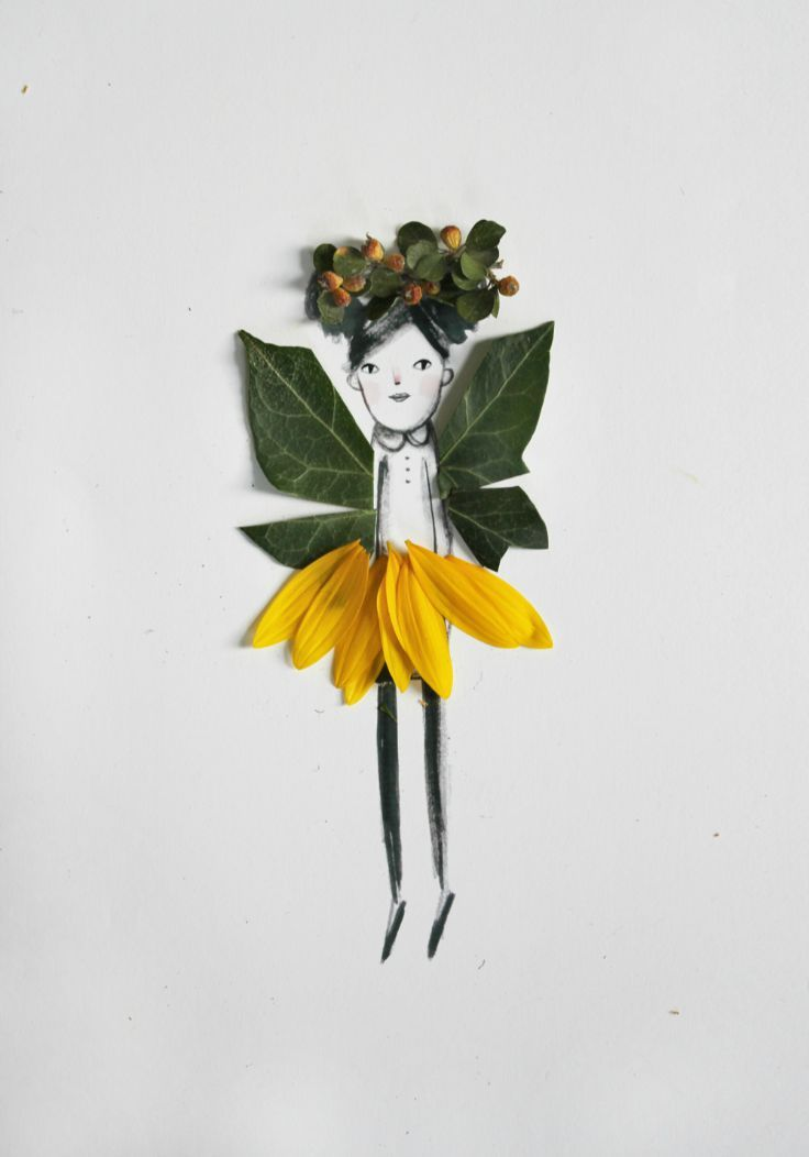 Make and Decorate Your Own Nature Paper Dolls - Spring craft