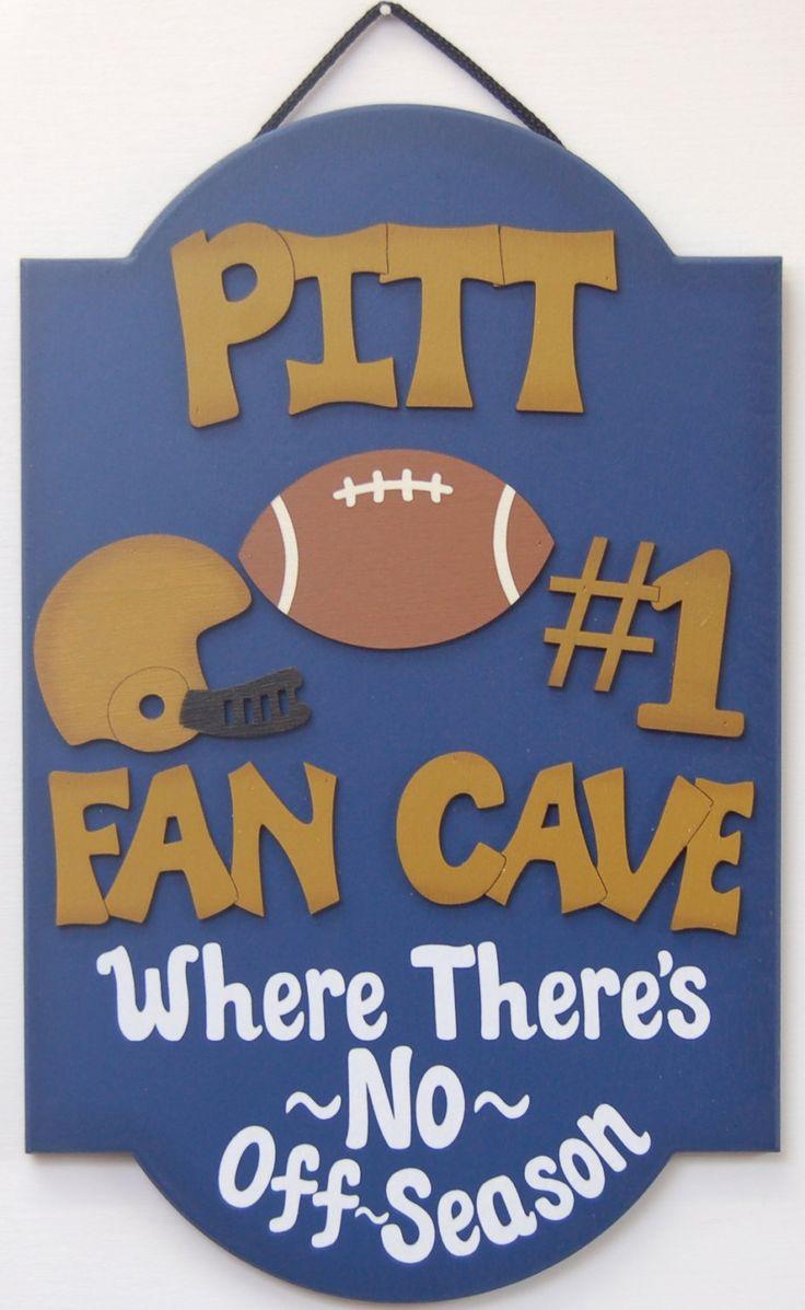 Pittsburgh Pitt Football signs Pitt Football gifts for guys Football wall decor Pitt football man cave sign sportsbar decor teen sports room by UCsportsbyBill on Etsy