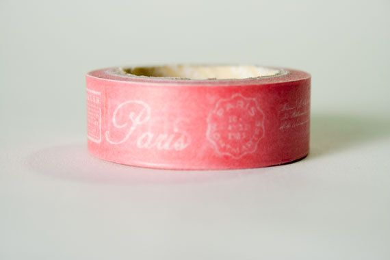 Washi Tape Raspberry Paris Print by HexagonInc on Etsy, $3.50