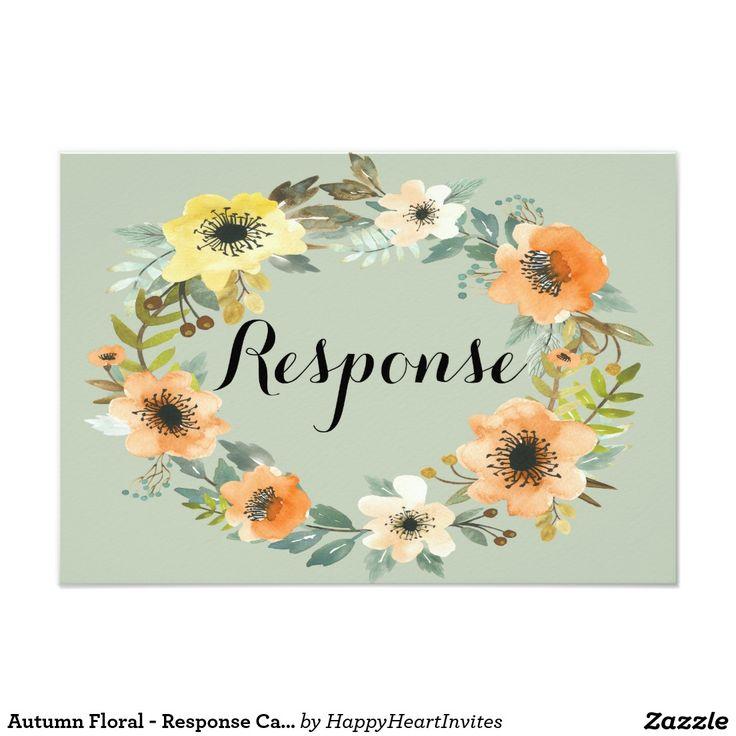 proper response time for wedding rsvp%0A Autumn Floral  Response Card