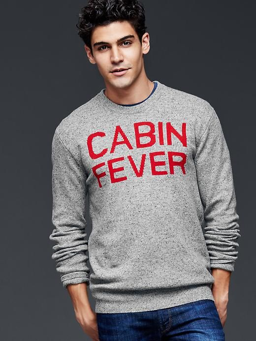 Cabin Fever Boxing Clever Geometric Design De Carol: Cabin Fever Lambswool Sweater