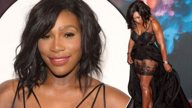 Were #SerenaWilliams' legs #photoshopped or not? Find out here: http://www.celebnut.com/serena-williams-brushes-off-photoshop-claims-to-flash-legs-in-sexy-lace-outfit-as-she-collects-si-award/ #celebs #SIawards #tennis