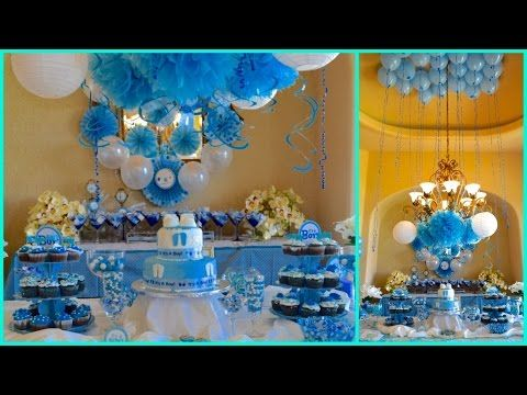 Baby Shower Ideas 2015 For Boy Blue Theme Youtube Baby