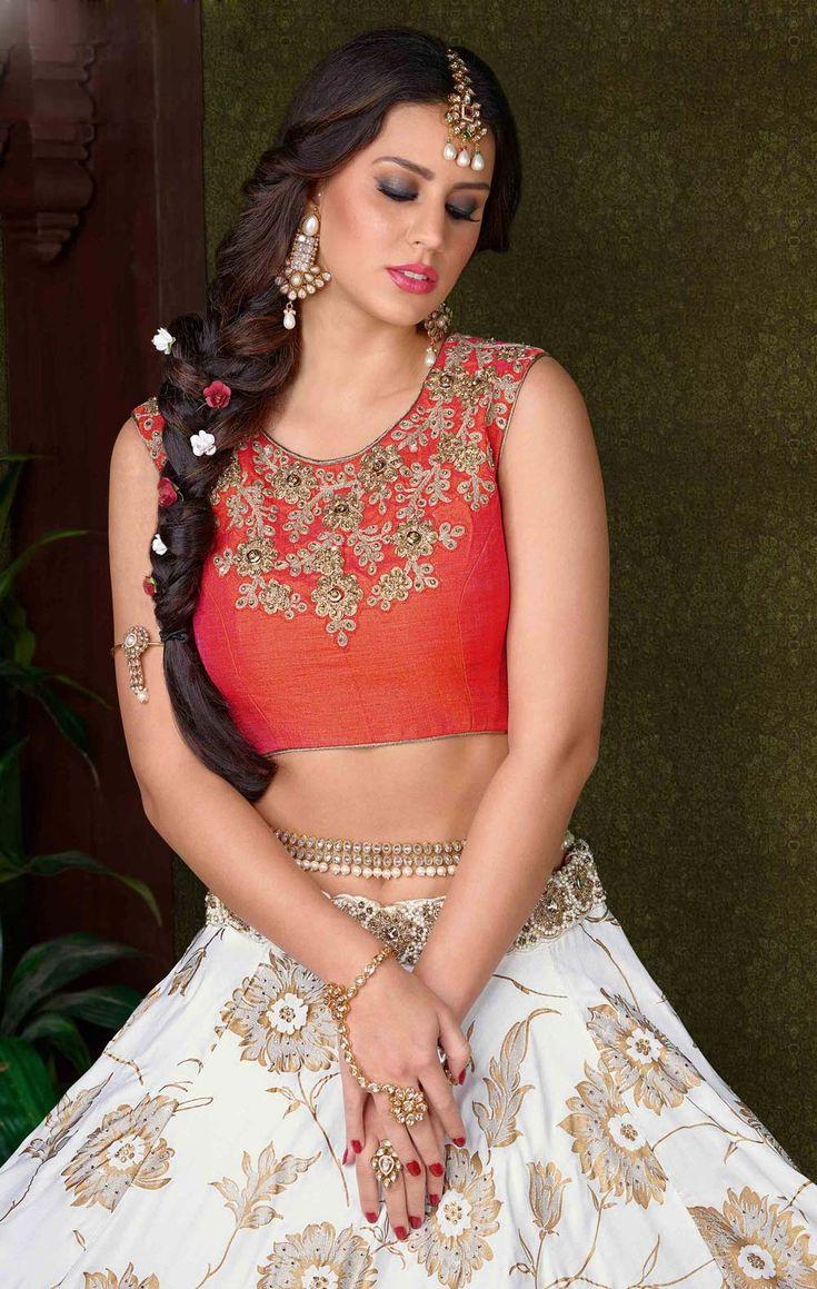 Silk Lengha Choli Buy online Texas,New Jersey, Gujarati Style Ghagra Choli N.R.I Brides