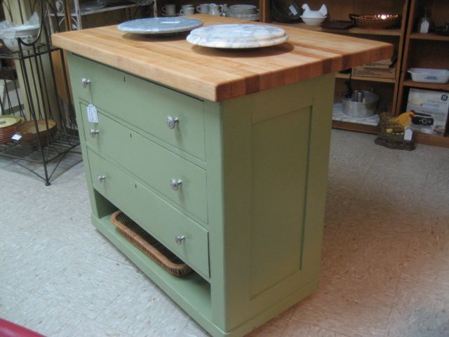 Repurposed Antique Dresser As A Kitchen Island With A: 17 Best Images About Buffet 2 Island On Pinterest
