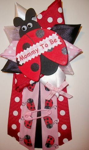 ladybug corsage for baby shower